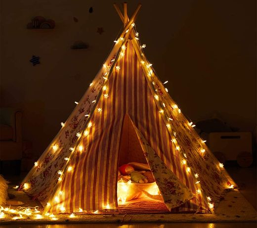 Teepee for Girls Bedroom With String Lights