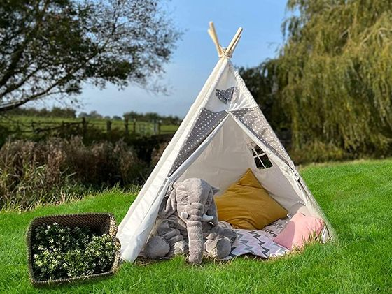 Teepee Tent With Two Pillows