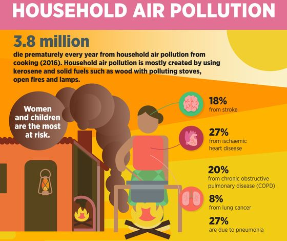Household Air Pollution Stats Graphic