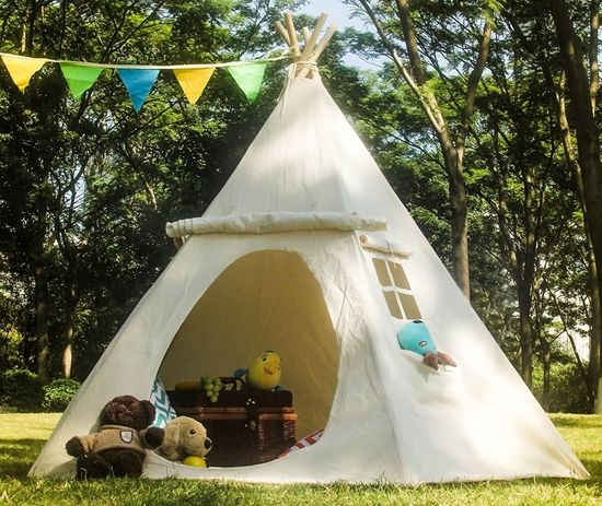 Childs Tent Teepee In Thick Canvas