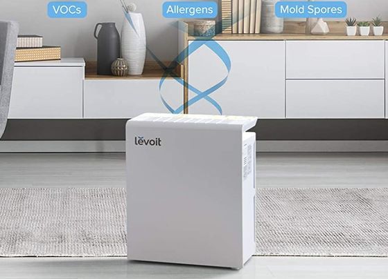 Home Air Purifier In Off White Finish