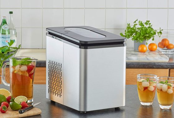 Automatic Ice Cube Machine Grey Exterior