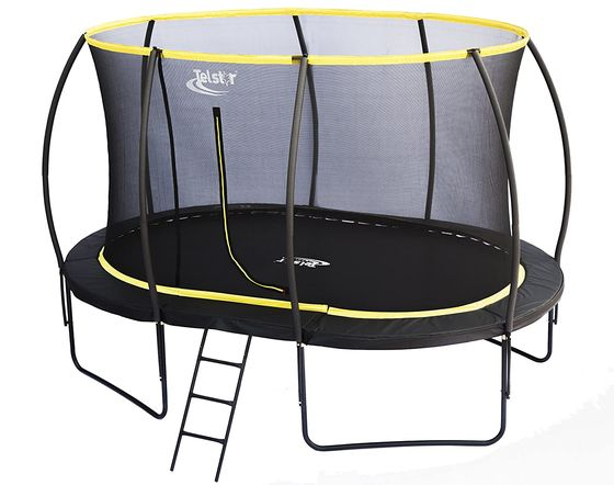 Garden Trampoline With Girl Jumping