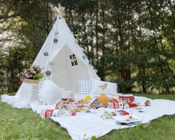 RONGFA Kids Play Teepee Tent In White