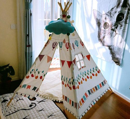 Portable Play Teepee Tent With Balloon