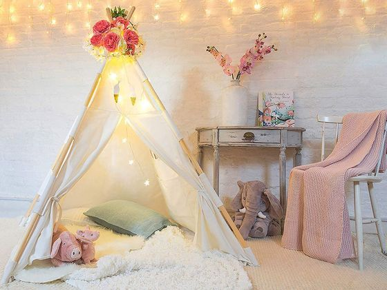 Kids Indian Teepee With Lights In Canvas