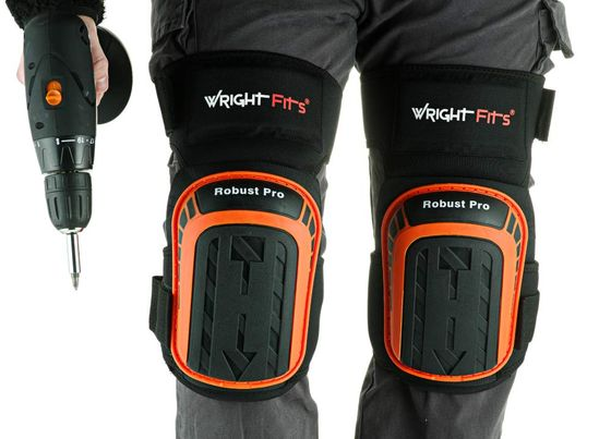 Knee Pads For Flooring With Black Straps