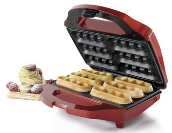 American Originals Waffle Maker In Glossy Red Finish