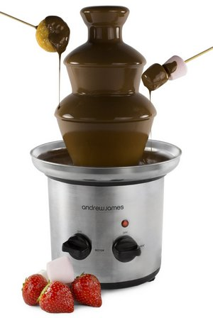Steel Chocolate Fountain With Dipping Skewers