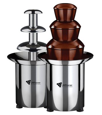 Battery Chocolate Fountain With Polished Stainless-Steel Dome