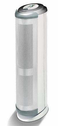 Silent Air Purifier In Tall White Design