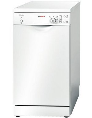 Bosch 9 Config Slimline Dish Washer In White With Controls