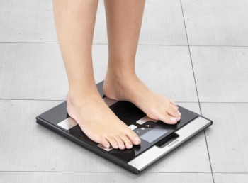 Digital Body Bmi Bathroom Scales With Woman On It
