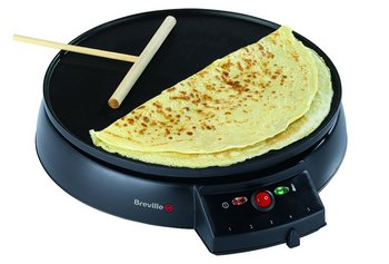 Coated Dish Crepe Maker With Wooden T-Stick