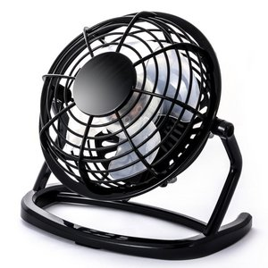 USB Fan With Rotating Head In Black And Silver