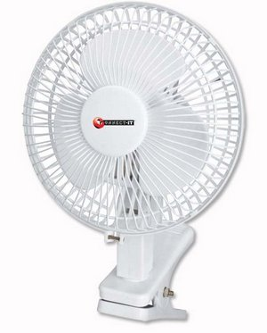 Tilt Style Cool Fan In White Exterior