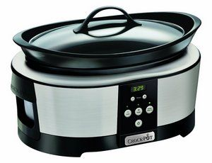 Slow Cooker In Grey And Black Exterior