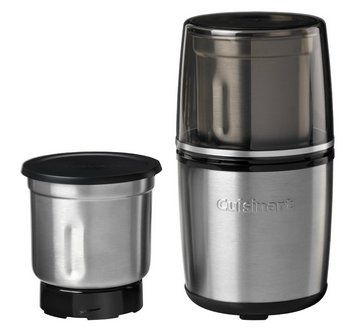 Electric Coffee And Spice Grinder In Black And Chrome Style