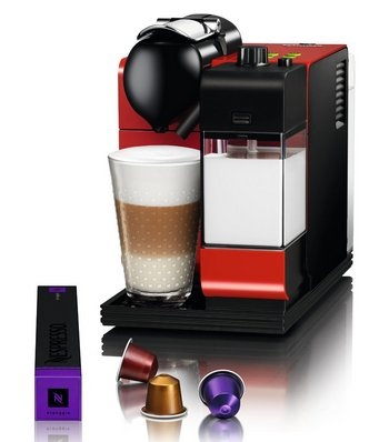 Coffee Maker In Black And Red Colours