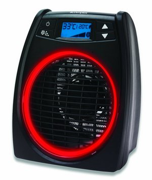 Small Fan Heater In All Black Finish