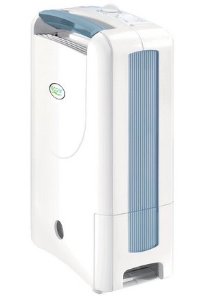 Desiccant Small Dehumidifier In White With Blue Aspects