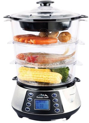 NaturoPure Food Steamer With 3 Container Tiers