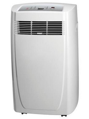 BTU Portable Air Conditioner In White With 'On Top' Controls
