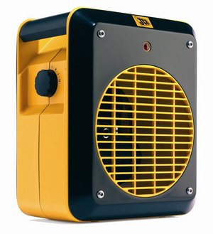 Compact Fan Heater In Black And Orange Colour