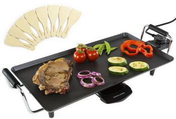 Teppanyaki Grill Plate Cooking Vegetables On Top
