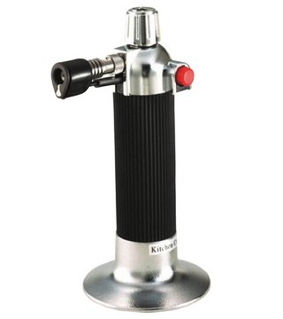 Piezo Trigger Kitchen Blowtorch In Black And Chrome
