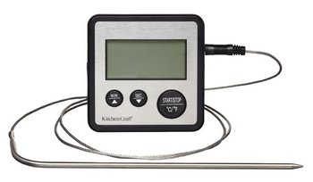 Steel Probe Thermometer With Screen And Wire
