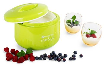 Healthy Yoghurt Maker In Yellow With Strawberries