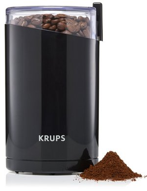 Herbs Spices Coffee Grinder In Black Exterior