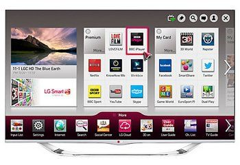 LG LED HD Smart TV Shows Start Screen