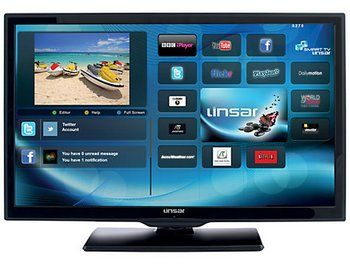 Linsar Smart TV LED With Blue Background APPS