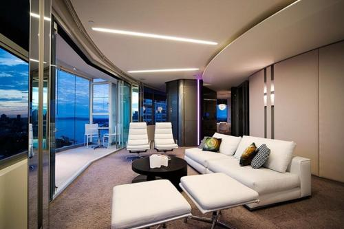 Modern Living Room And White Sofa