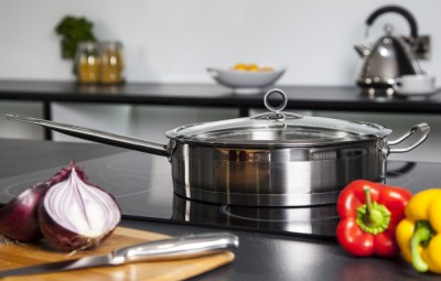 Accents Stainless-Steel Saute Pan With Vegetables