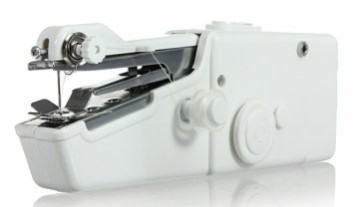 Odysseus Hand Held Travelling Sewing Machine In White Finish