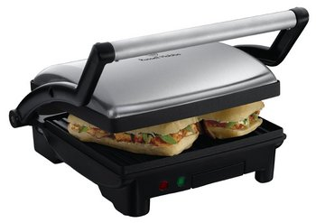 Cafe Style Paninis And Grill With Chrome Handle