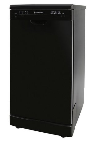 Russell Hobbs Slim Eco-Friendly Dishwasher In All Black