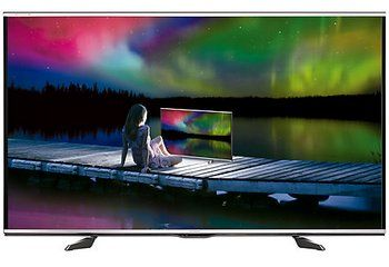 Sharp LED Smart TV With Lake and Sky Scene