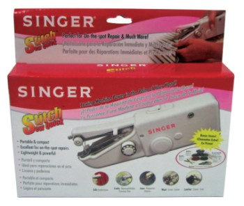 Singer Stitch and Sew Handheld Sewing Machine In Red Packaging