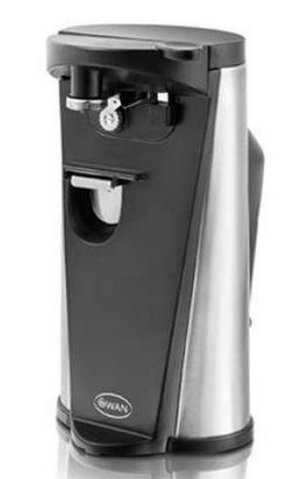Electric Can Opener In Black And Chrome Effect