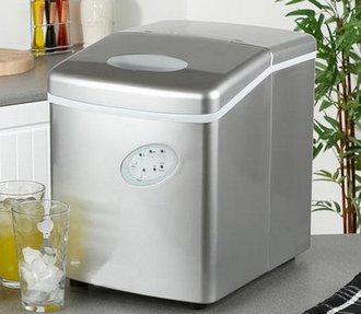Fast Ice Maker In Kitchen With Stainless-Steel Exterior