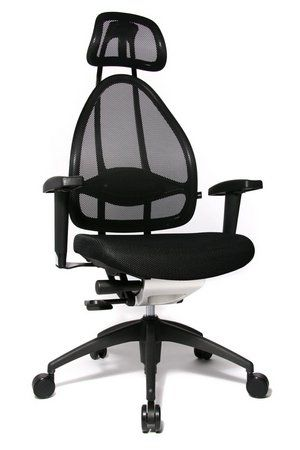 Topstar Open Art (Body Balance Tec) Ergonomic Office Chair In All Black Finish