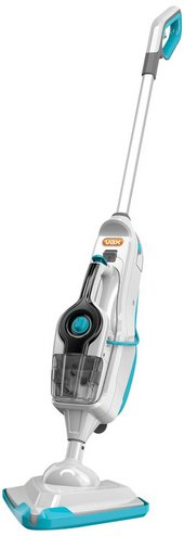Portable Steam Mop In White And Blue