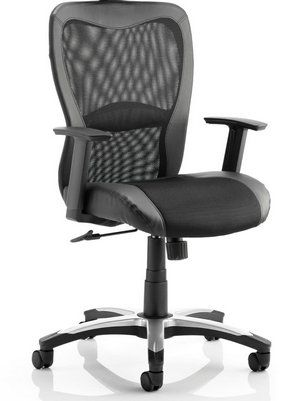 Victor II AirMesh Leather Ergonomic Home Office Chair In Black Exterior