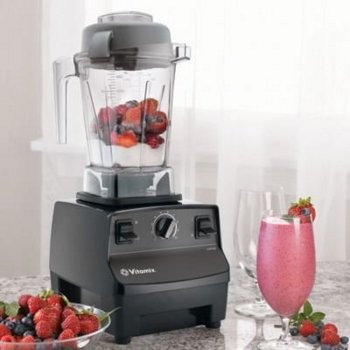 Smoothie Mixer In Black With Fruit Bowl
