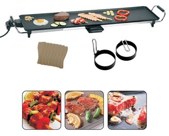 Large Surface Teppanyaki Grill With Accessories