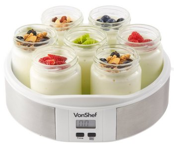 Organic Home Yoghurt Maker In White Circular Shape